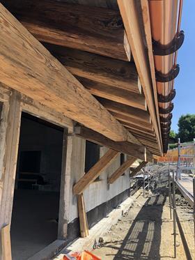 CONSTRUCTION EN COURS CHALET EN VIEUX BOIS